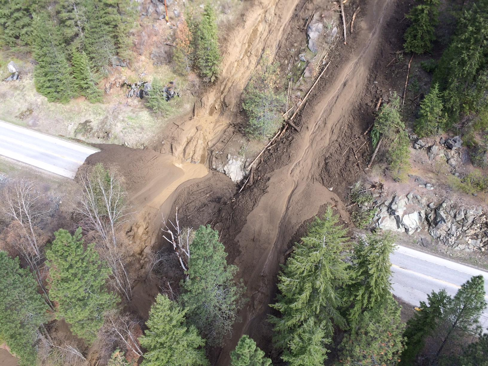 Updated Highway 3a Closed Due To Mudslide Near Brilliant My Kootenay Now