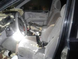 inside vehicle